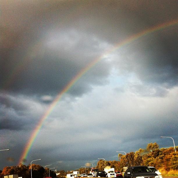 One afternoon, Three rainbows  (Taken with  Instagram )