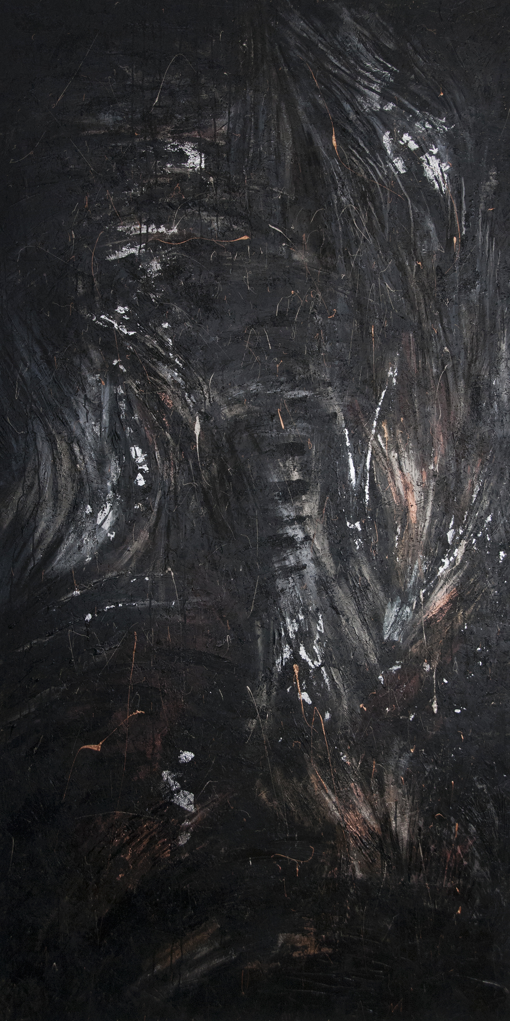 Untitled  - mixed media on chipboard, (1,2 x 2,4 m) ©KAT