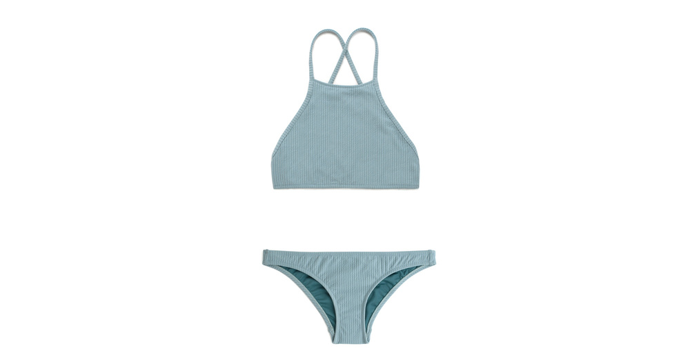 Shop Coral Misty Blue Rib