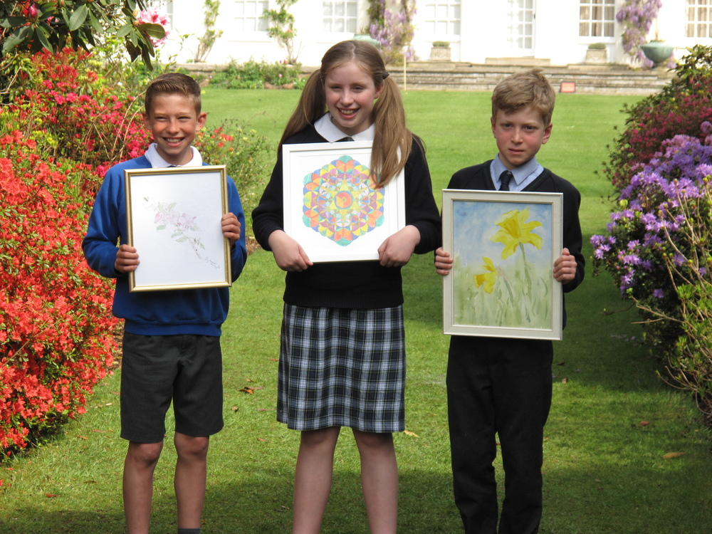 Maxwell Starling of Astley Primary School, Tallulah Bason of Beeston Hall Preparatory School and Freddie Betts of Greshams Preparatory School