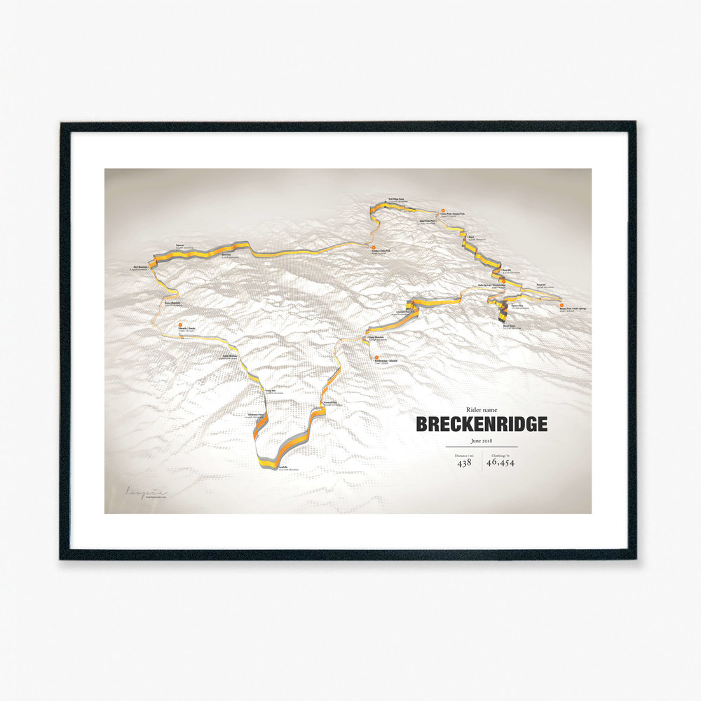 Combined - Create a lasting reminder of a multi day trip. We can stitch your .gpx files together to create the ultimate reminder of your adventure.