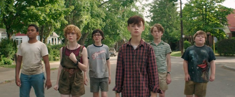 The Loser's Club, played by Chosen Jacobs, Sophia Lillis, Wolf Finnhard, Jaeden Lieberher, Wyatt Oleff Jeremy Ray Taylor and Jack Dylan Grazer.