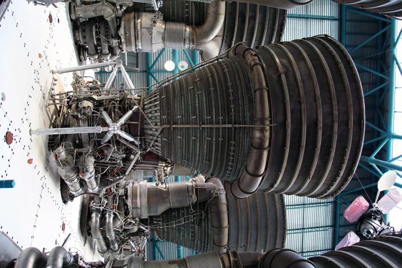 Kennedy Space Centre: : Saturn V booster detail