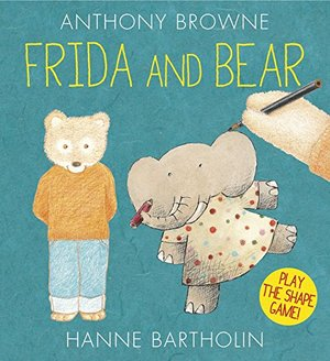 Written and illustrated with Hanne Bartholin, 2015   Frida and Bear both LOVE to draw - but what? First, Frida draws a shape. Bear adds to it and turns it into a picture. Then Bear draws a shape for Frida as the game begins again. Anthony Browne   and Hanne Bartholin celebrate the power of imagination and the importance of creativity in this delightful picture book that invites the reader to join in and play the shape game with them.