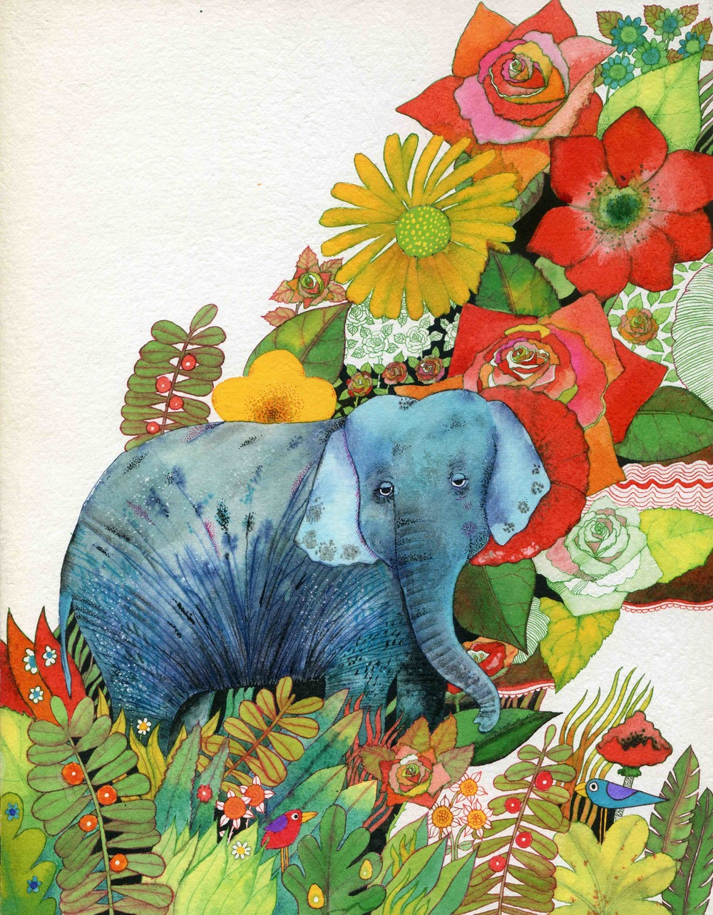 An illustration from  The Elephant Book , 1974 (unpublished)