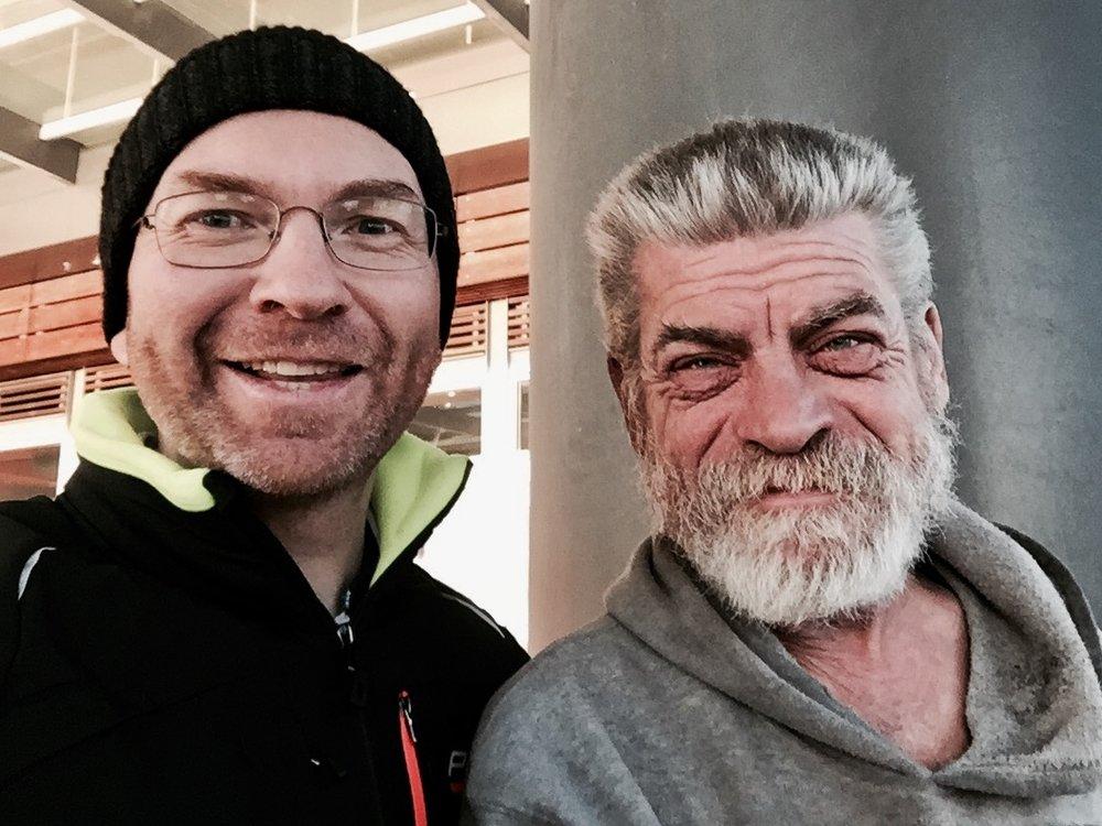 Alan and me.