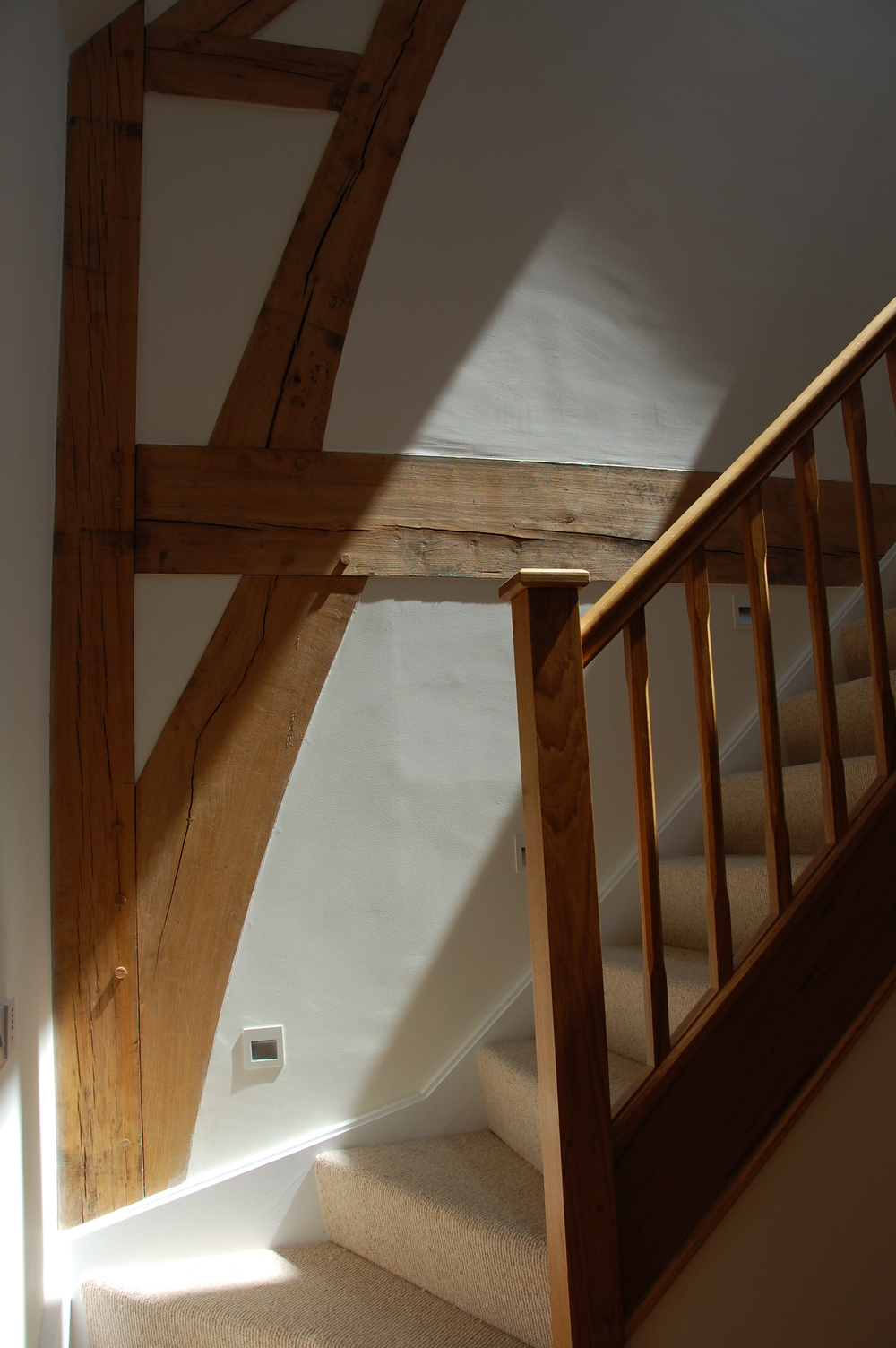 New build oak-framed house, Wiltshire