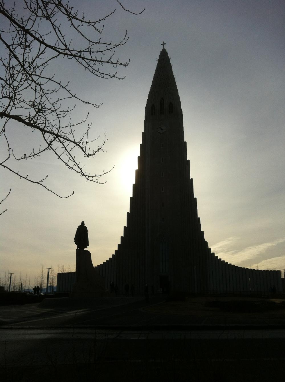The Hallgrimskirkja Church, Reykjavik