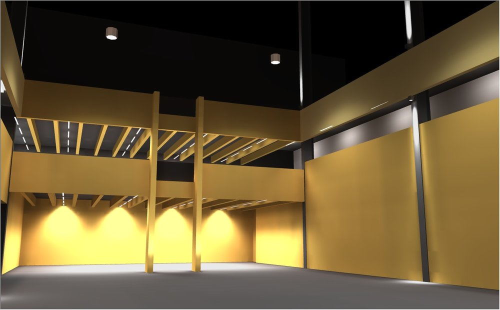 3D model created as part of the lighting design process