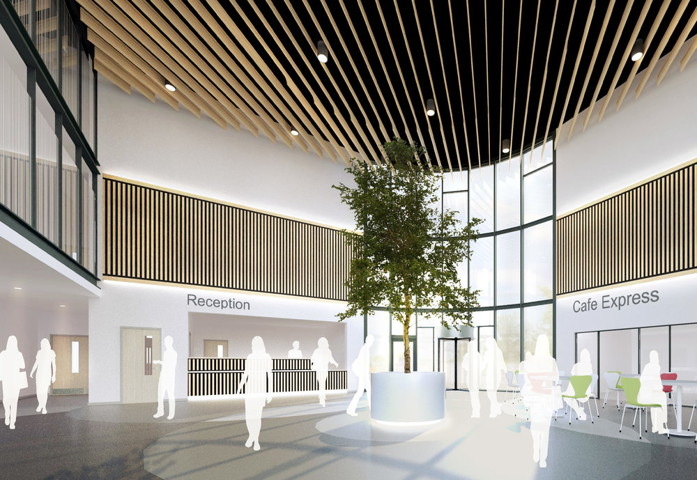 Visual of Proposed Reception Area by Architect [copyright Hewitt Studios LLP]