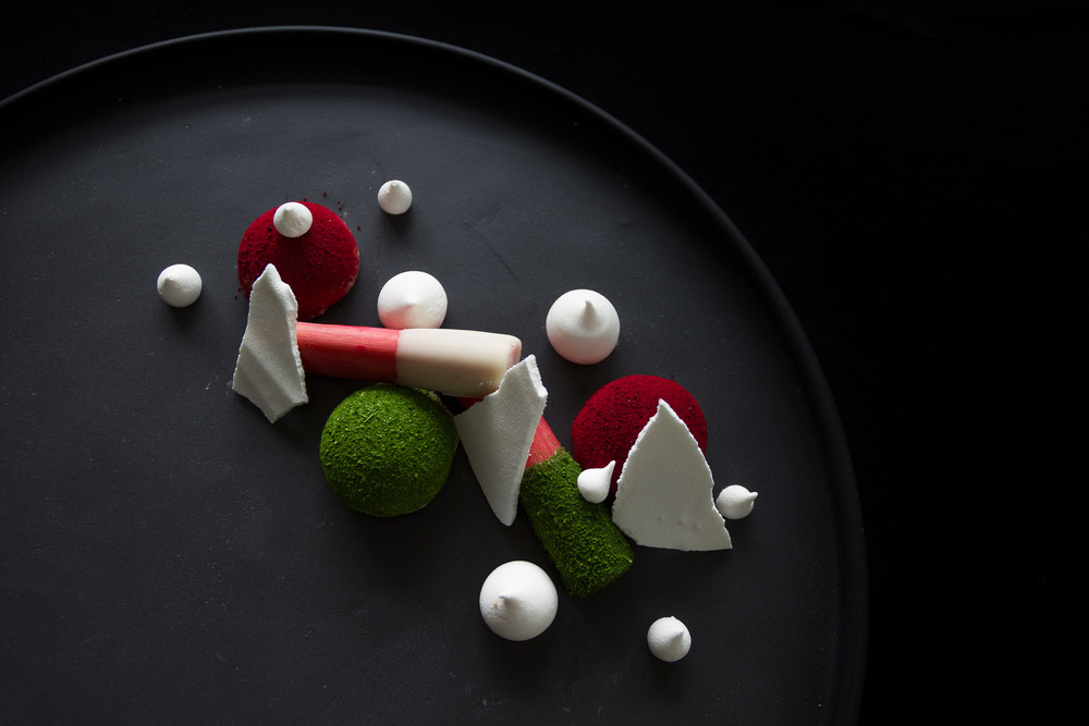 Fermented rhubarb and chocolate