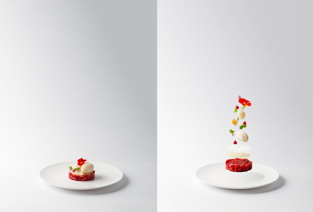 Strawberry and Cardamom Ice cream