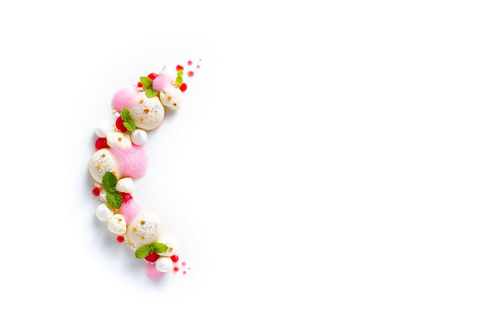 Cardamom panna cotta and berries