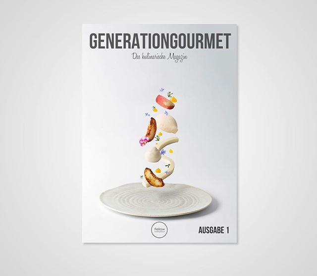 """Check out @generationgourmet first Issue. It's a German magazine and features some stunning dishes.  Thanks to @generationgourmet for featuring some of my """"Levitating"""" photos and the best of luck for the future."""