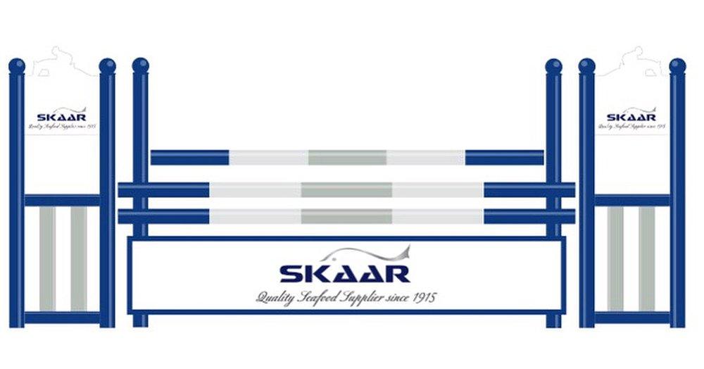 Skaar Norway har kjøpt inn dette flotte sponsor-hinderet med firmaets grafiske profil. Vi takker stort, og gleder oss til å benytte dette materiellet i våre arrangement!