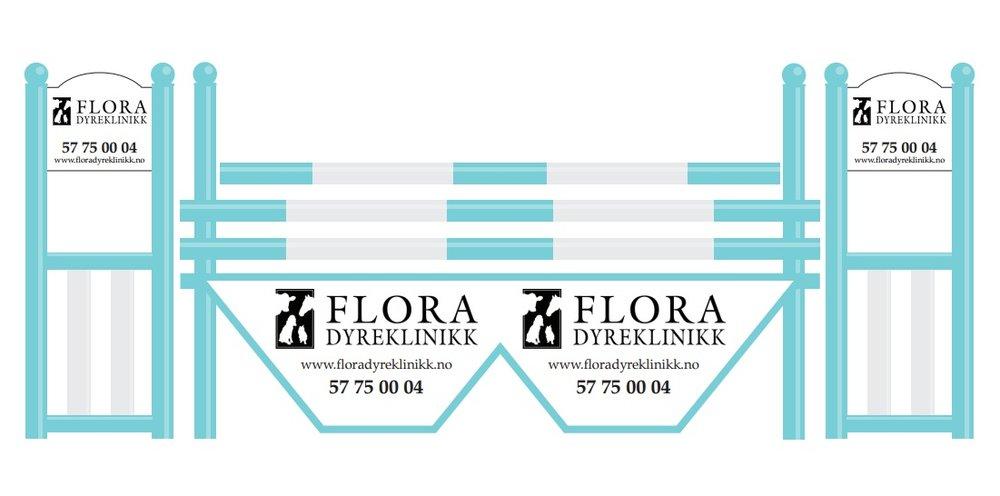 Flora Dyreklinikk sitt hinder er på plass! Vi takker så mye for bidraget og gleder oss til bruke dette i treninger og arrangement.