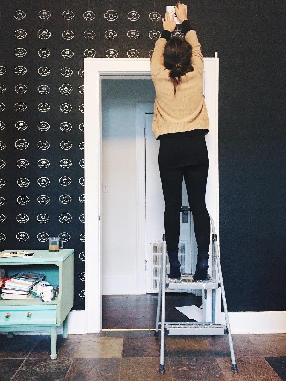 DIY Donut Wall Stencils