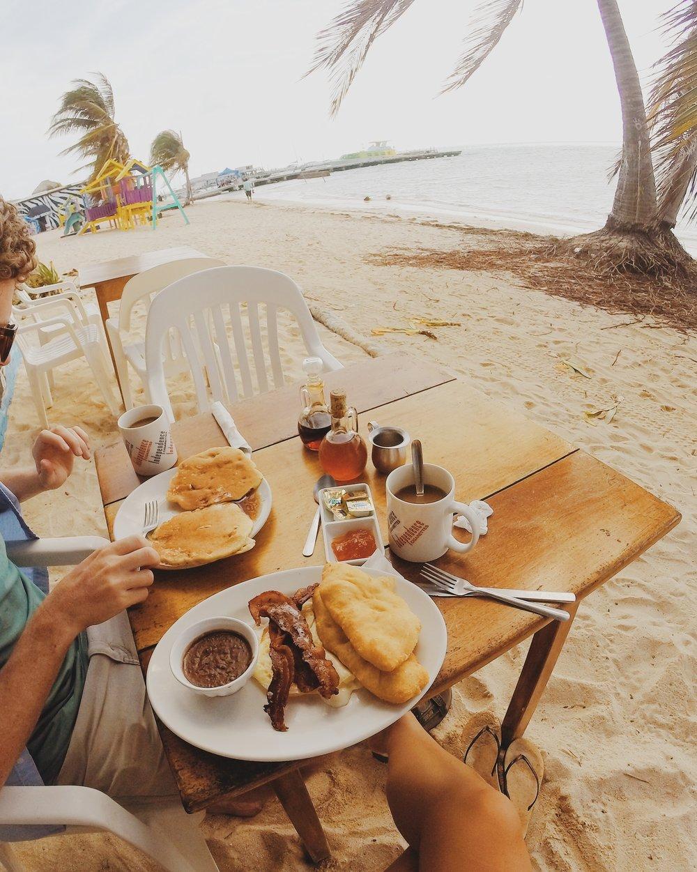 San Pedro, Belize. Estel's fry jacks