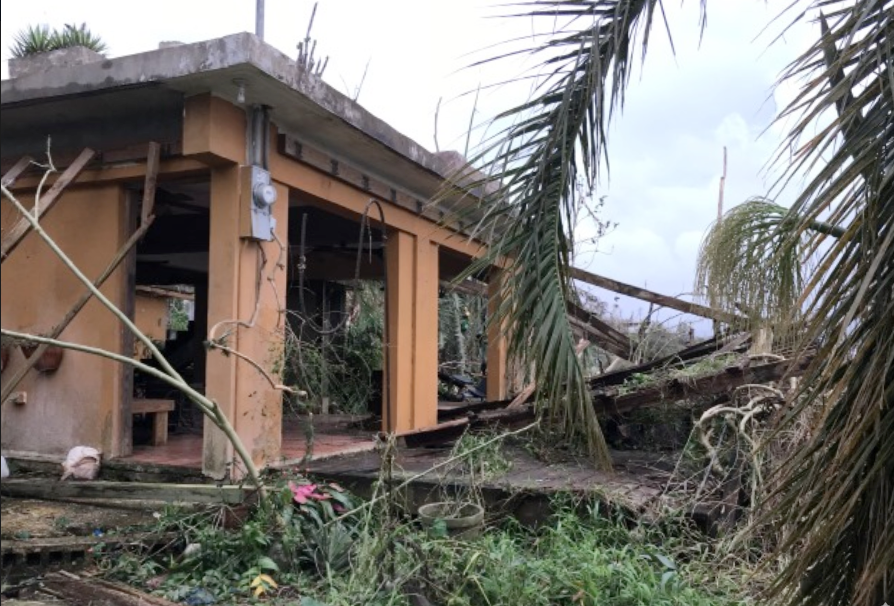 El Escondido Guesthouse after hurricane Maria in Puerto Rico
