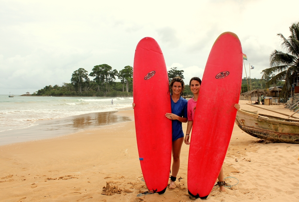 Surfing lesson Busua