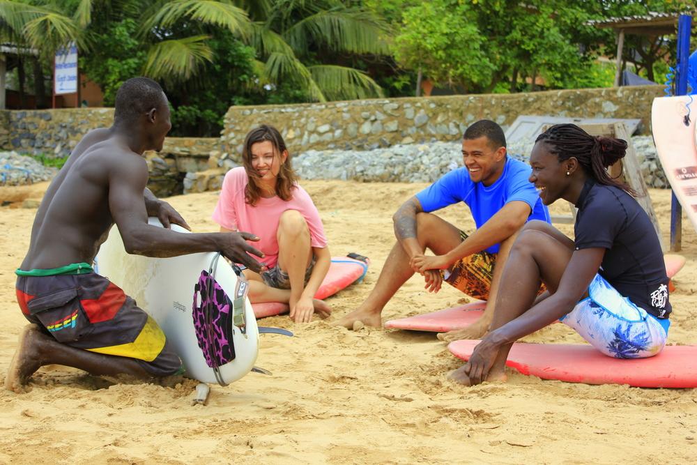 Surf lessons Ghana