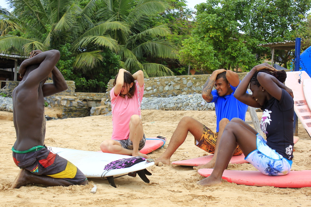 Surf lesson Ghana