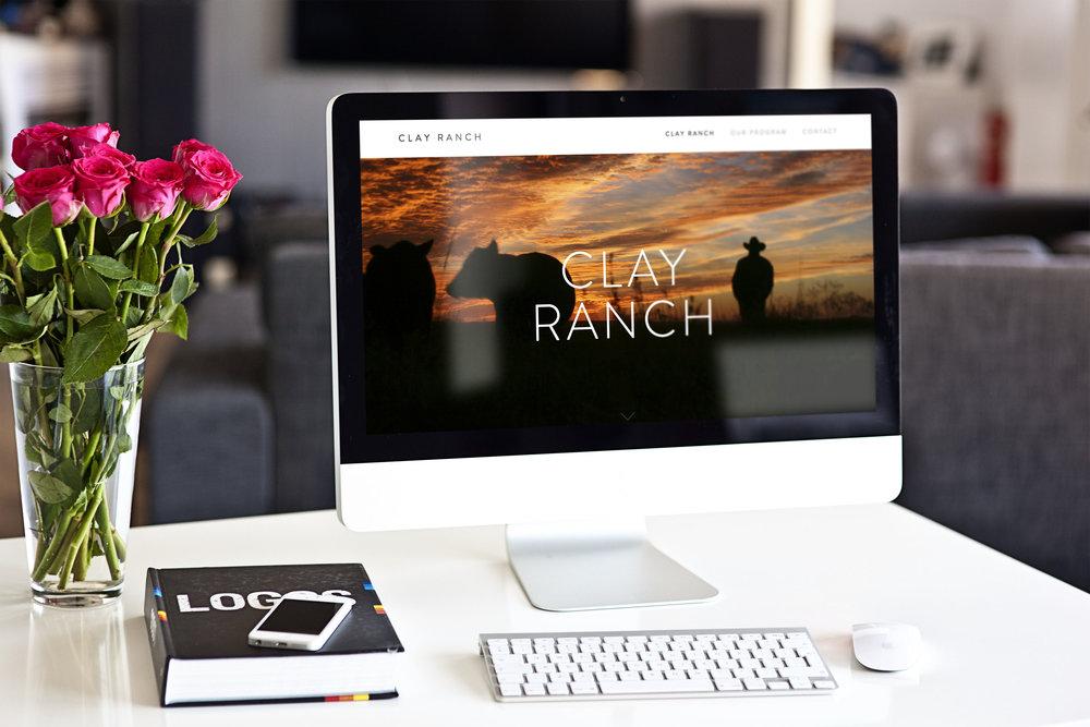 design + copy // Clay Ranch