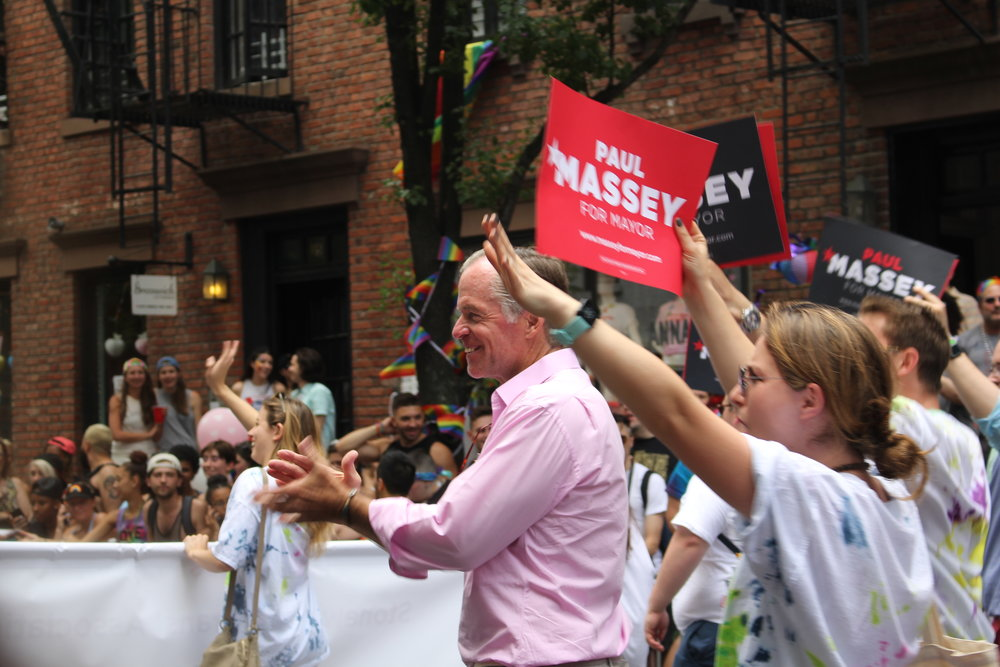 Businessman Paul Massey joined the march to show his support in LGBTQ issues, as an act for his mayoral campaign. However, 3 days after the march, he dropped out of the race for City Hall.
