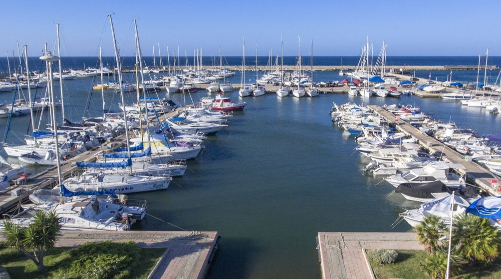 Boats slip at Marina di Capitana