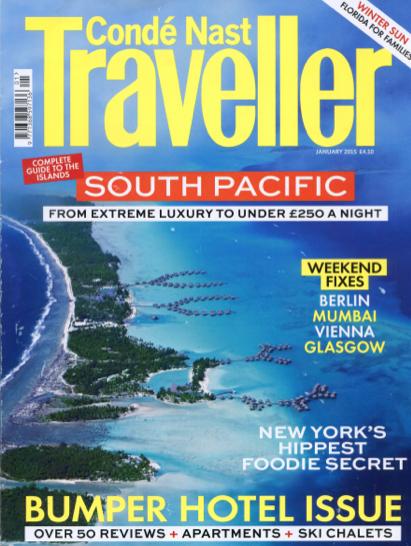 Condé Nast Traveller    January 2015