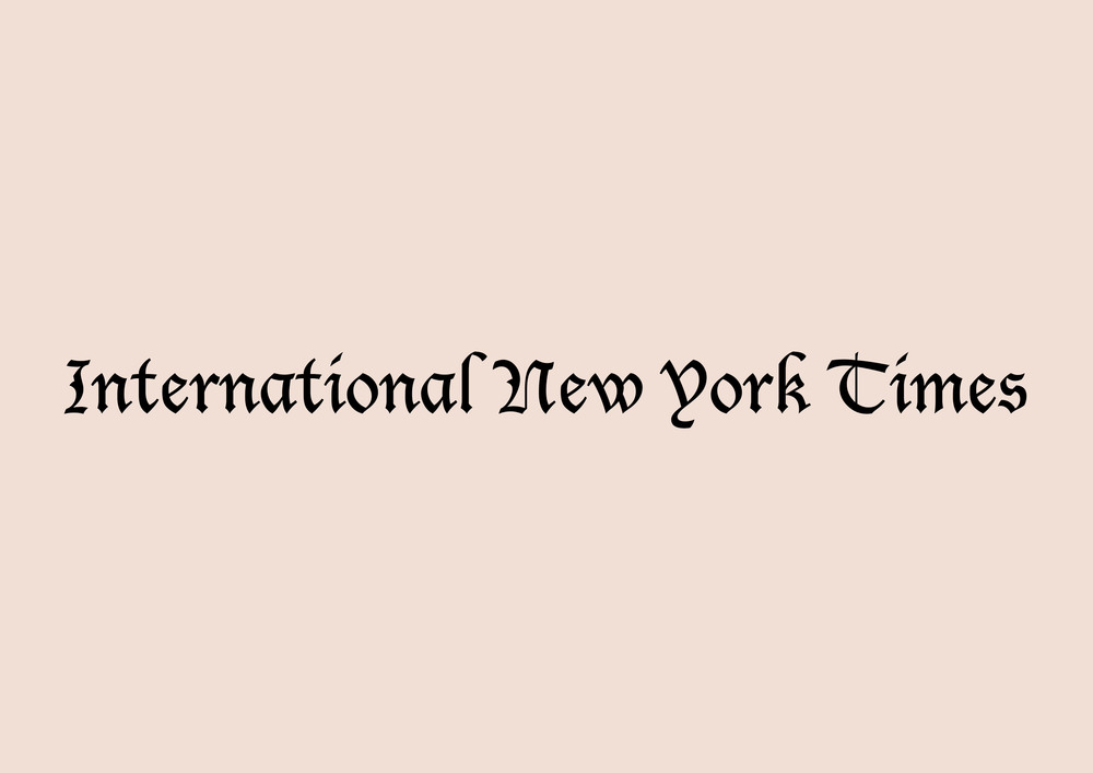 International New York Times    January 2015