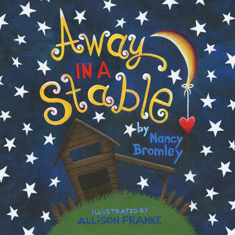 The cover illustraion of the children's book 'Away in a Stable'