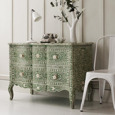 """Antonia"" Chest of Drawers in Emerald"