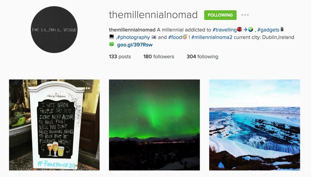 Instagram  @themillennialnomad