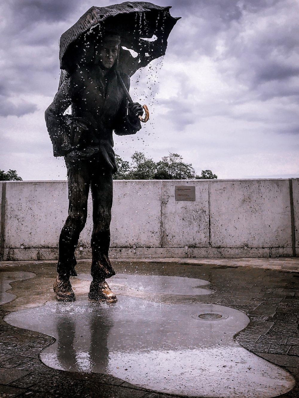 student of jelgava statue