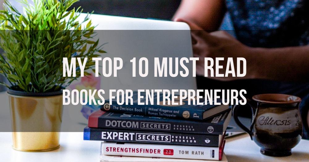 top 10 must read books for entrepreneurs