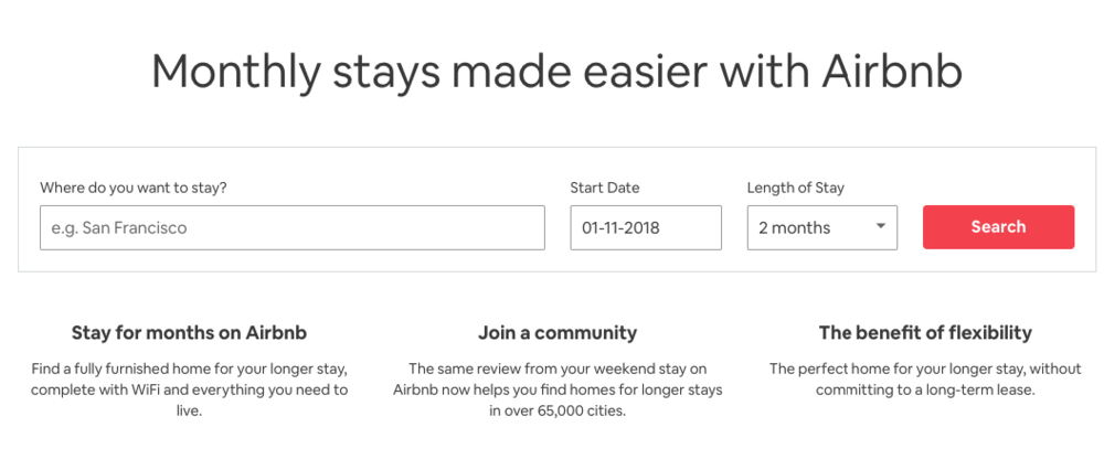 airbnb long term let