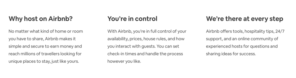host a home on airbnb benefits