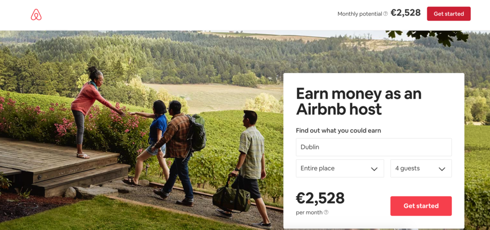 Airbnb average earning potential for hosting