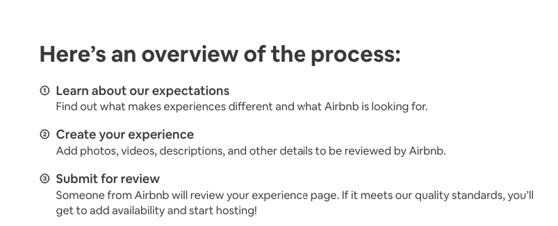 experience process overview