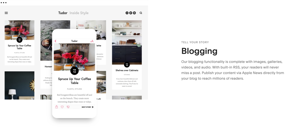 Squarespace blogging