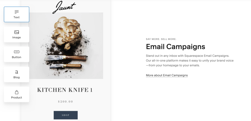 mail marketing squarespace