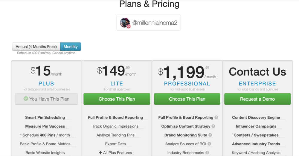 Tailwind Plans & Pricing