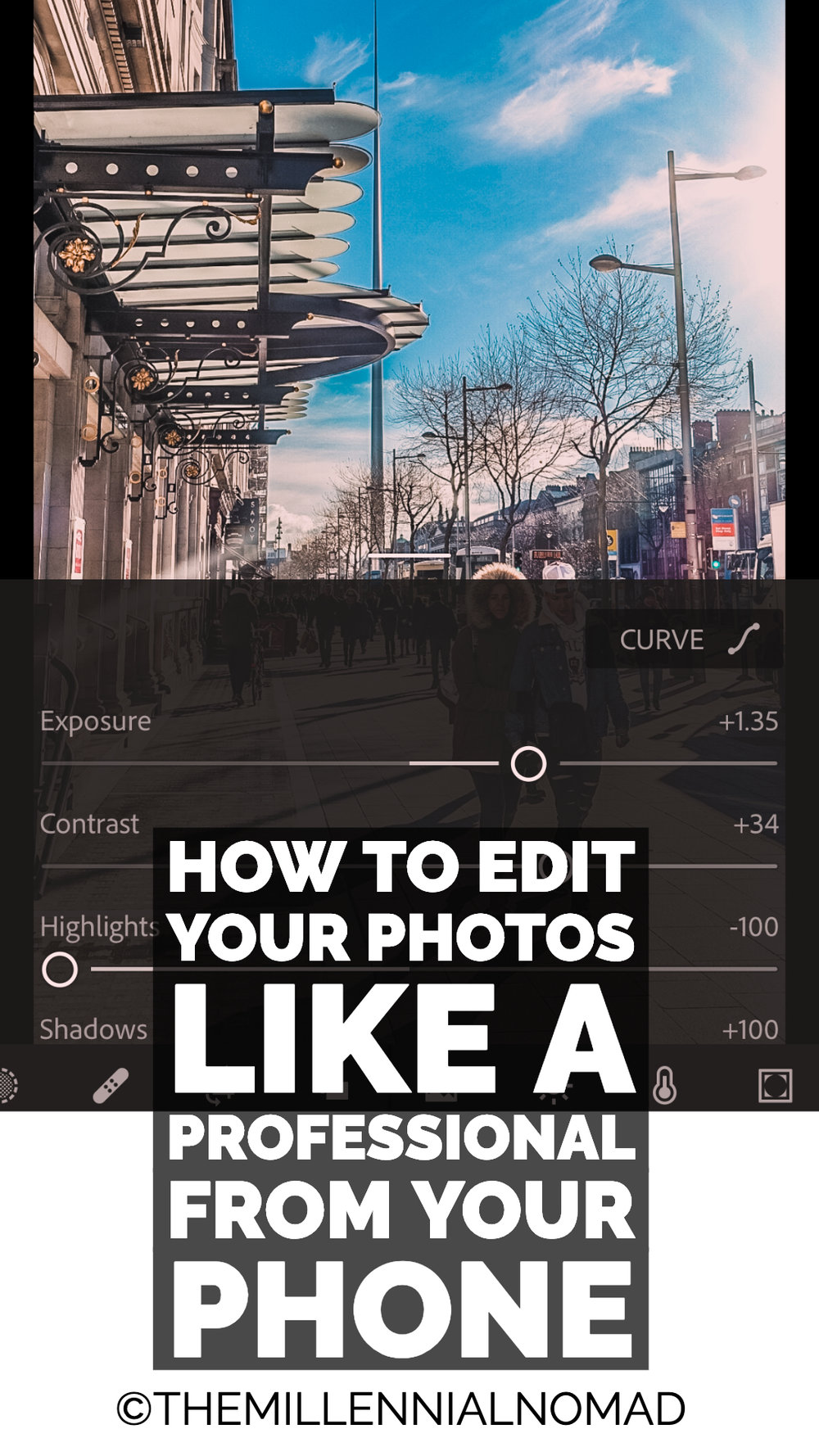 Are you tired of editing your photos on desktop. Wouldn't you prefer editing them on your phone and be able to share your photos quicker, whether it is for social media or a work assignment? Check out this article to learn how you can do just that using your phone only. #lightroomediting #lightroom #adobe #learnphotography #photographyediting