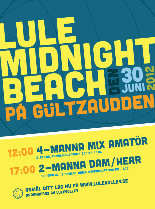 Poster för Lule midnight beach