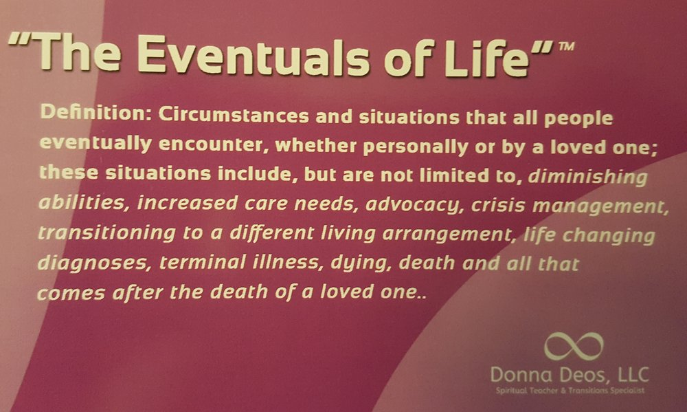 The Eventuals Of Life Card