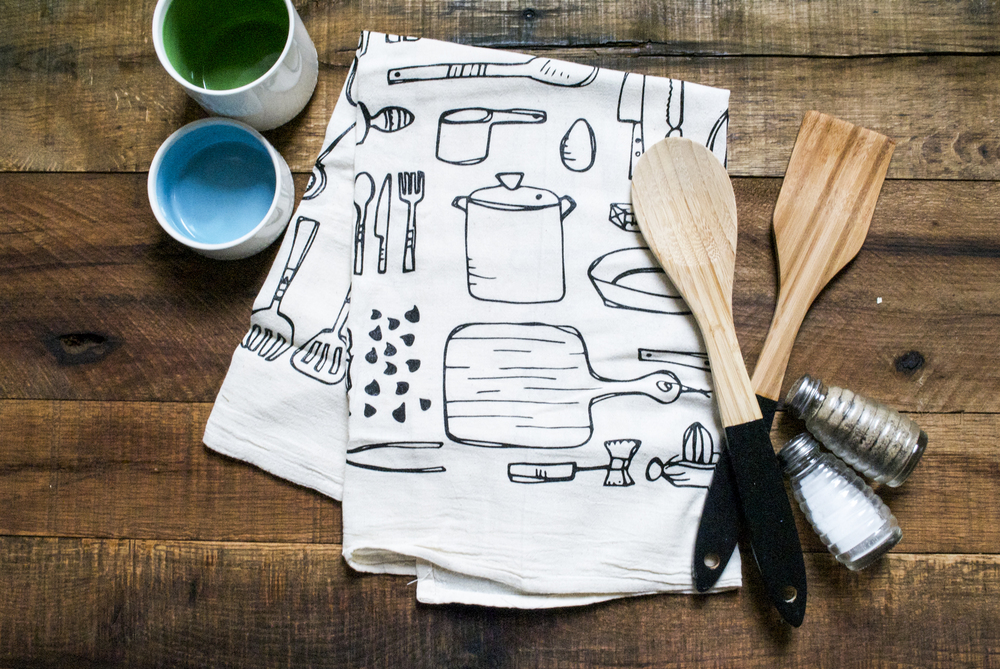 Launching Our First Kitchen Tea Towels | Sea of Atlas