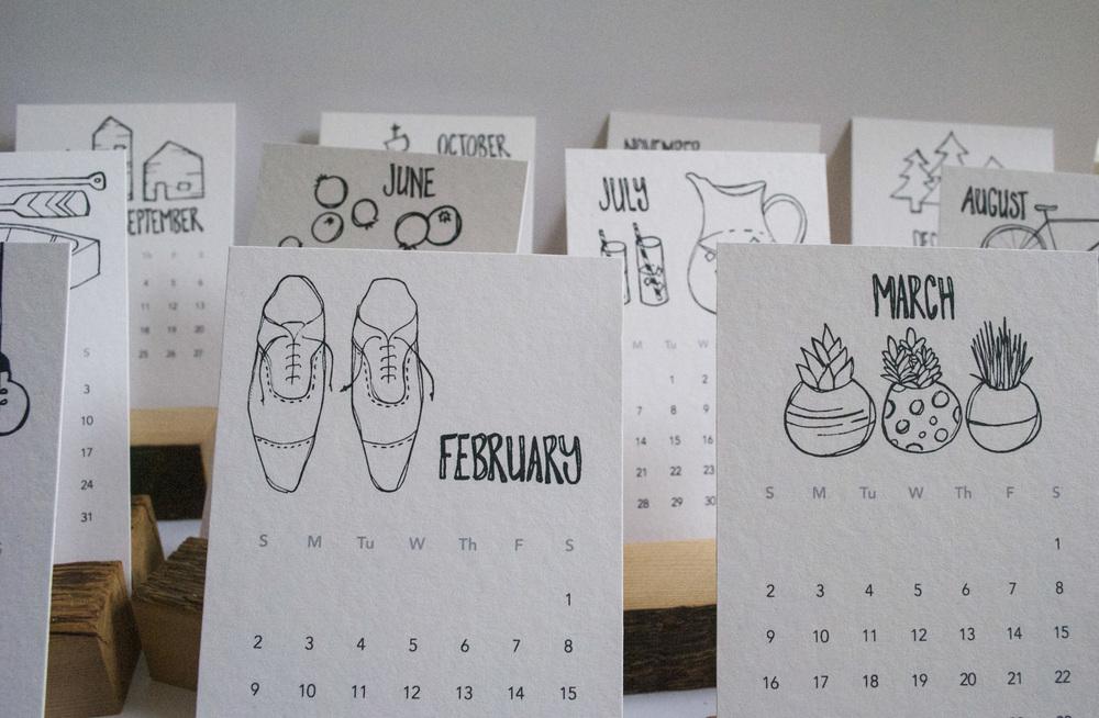 2014 Handdrawn Desk Calendars | Sea of Atlas