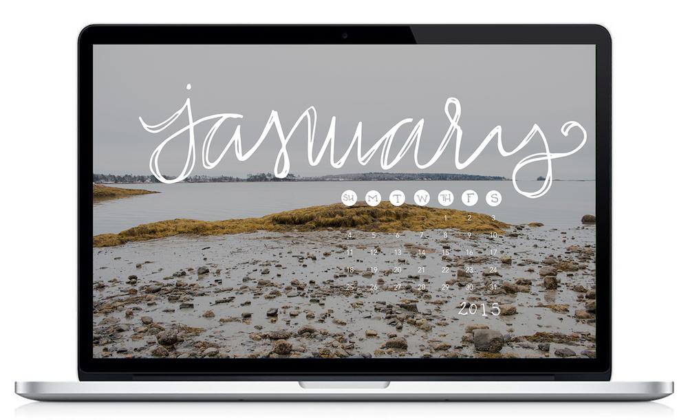 January 2015 Desktop Calendar | Sea of Atlas
