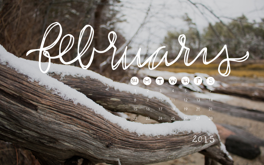 February 2015 Desktop Calendar | Sea of Atlas